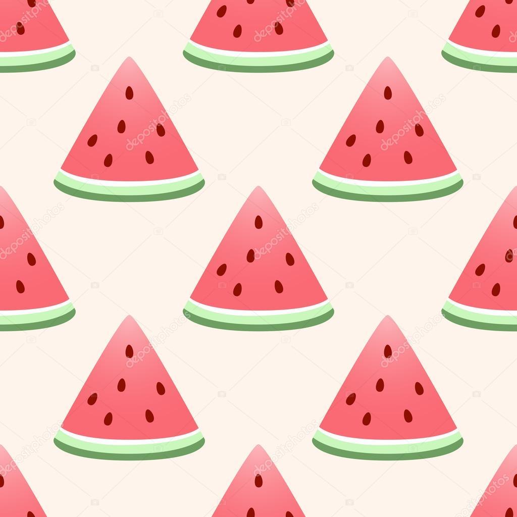 Watermelon Background Seamles Wallpaper Stock Vector C El4anes