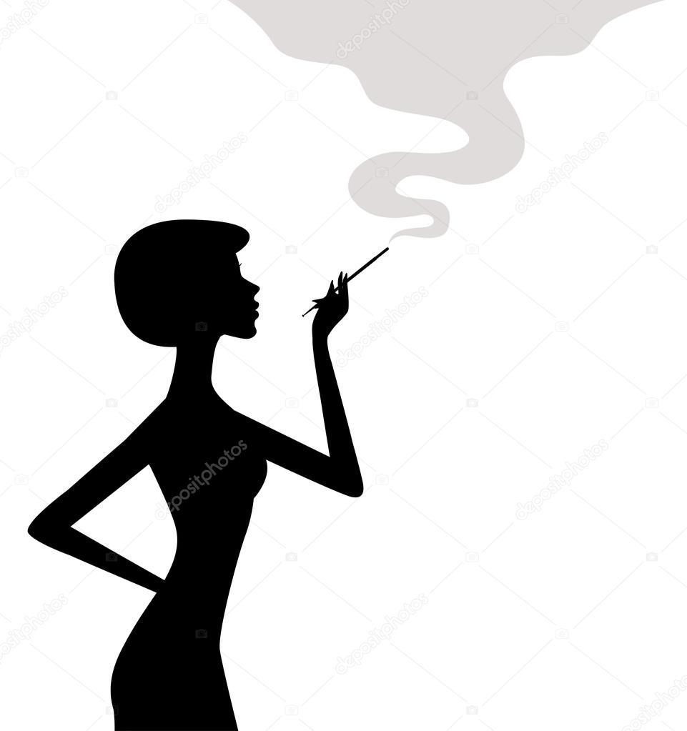 vector mujer fumando silueta de mujer fumando vector de stock el4anes 103008690. Black Bedroom Furniture Sets. Home Design Ideas