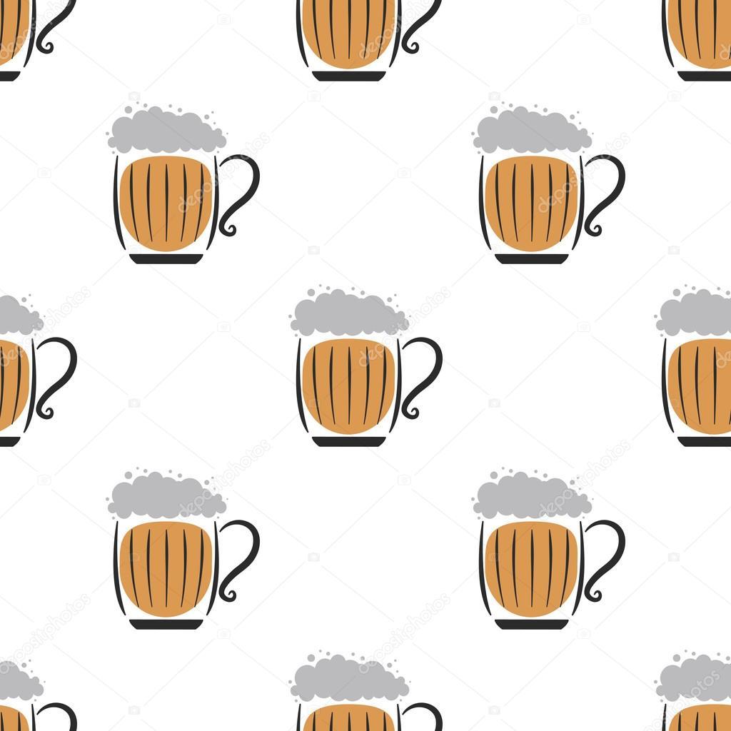 Beer Wallpaper White Stock Vector El4anes 111772390