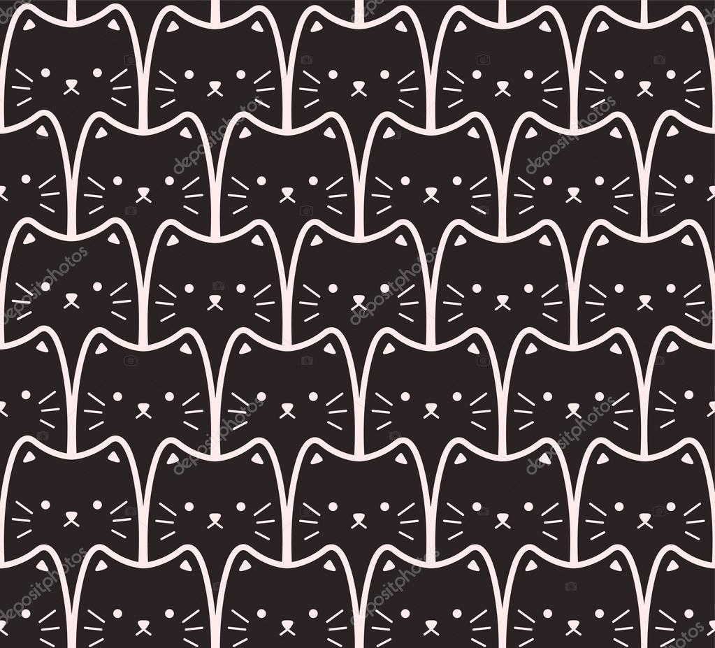 Black Cat Cartoon Wallpaper Black Cats Cartoon Seamless