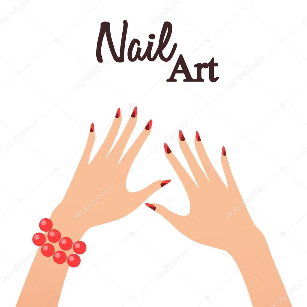 Nail art studio. Vector illustration — Stock Vector © El4anes #114981380