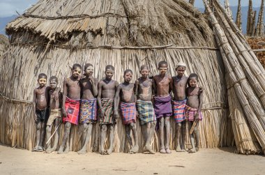Unidentified boys from Arbore tribe