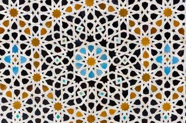 Ceramic mosaic in a Madrassa