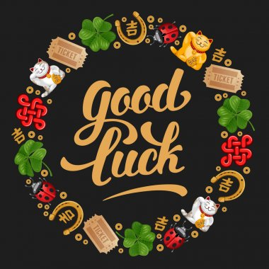 Good Luck Card with Charms