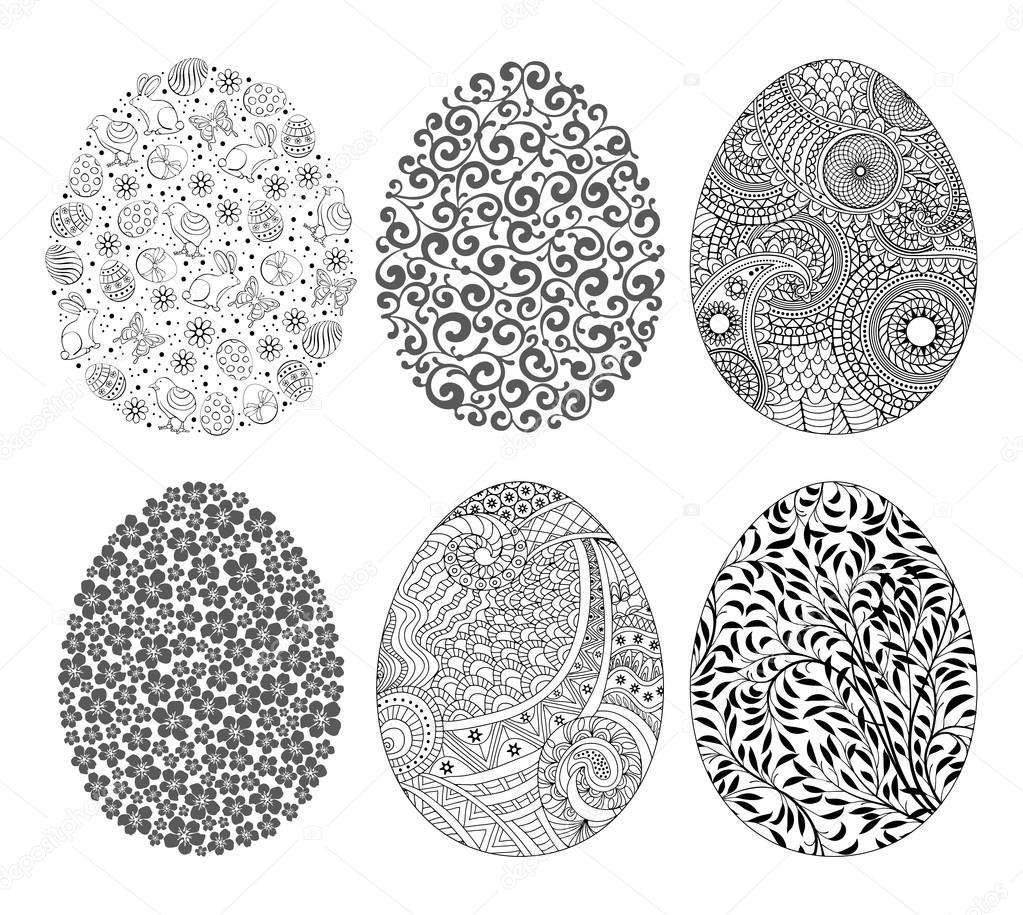 Ornate Easter Eggs Set