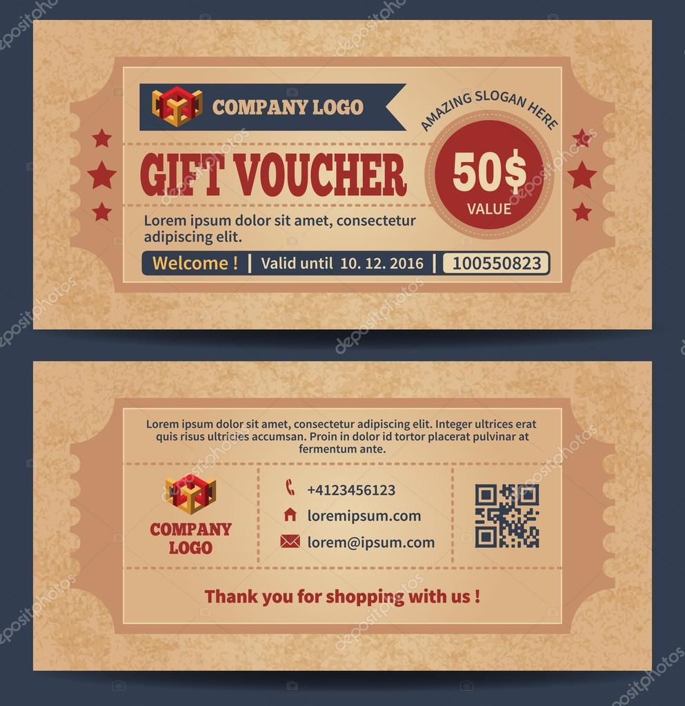 Retro gift voucher template stock vector pazhyna 103429926 retro gift voucher template stock vector yelopaper Images