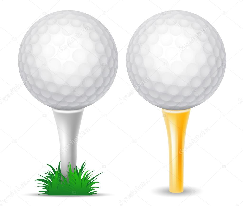 Golf Balls On Tee Stock Vector C Pazhyna 104544354