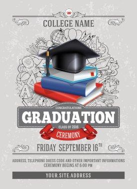Graduation ceremony template design