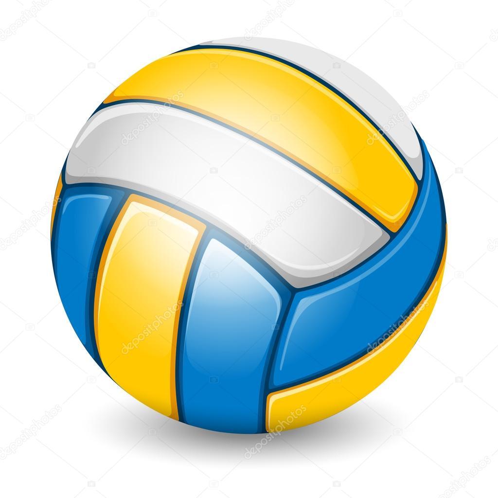 pelota de voleibol aislado en blanco — Vector de stock © Pazhyna ...