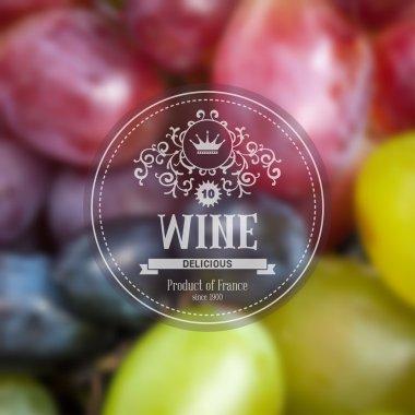 Grape wine background