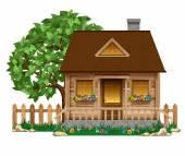 Fotografie malý dřevěný dům