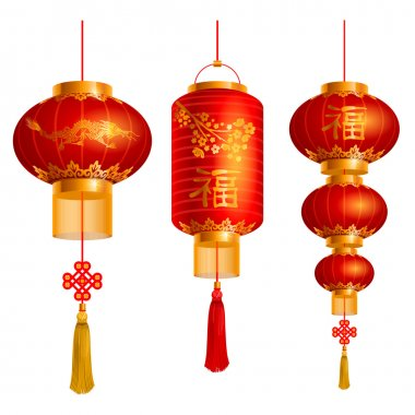 Chinese lanterns set