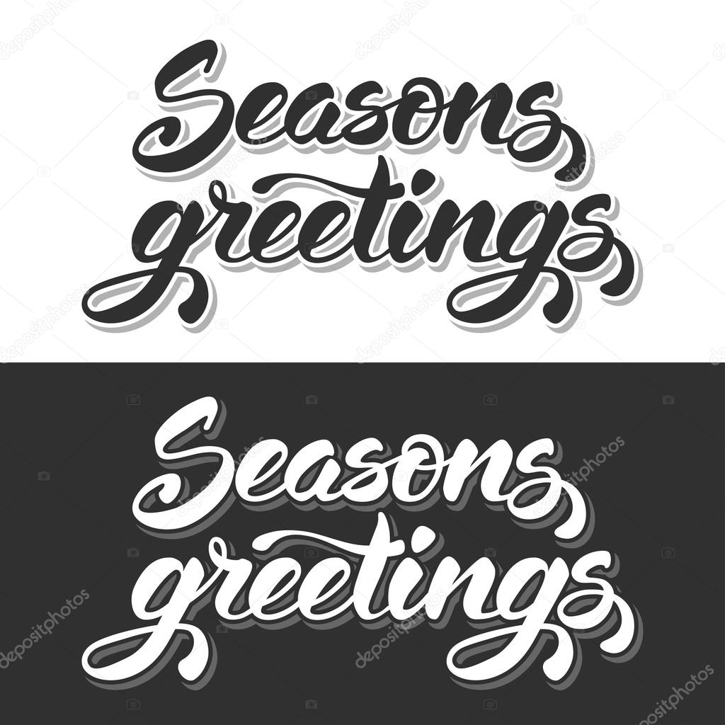 Hand lettering calligraphic inscription seasons greetings stock hand lettering calligraphic inscription seasons greetings stock vector m4hsunfo Choice Image