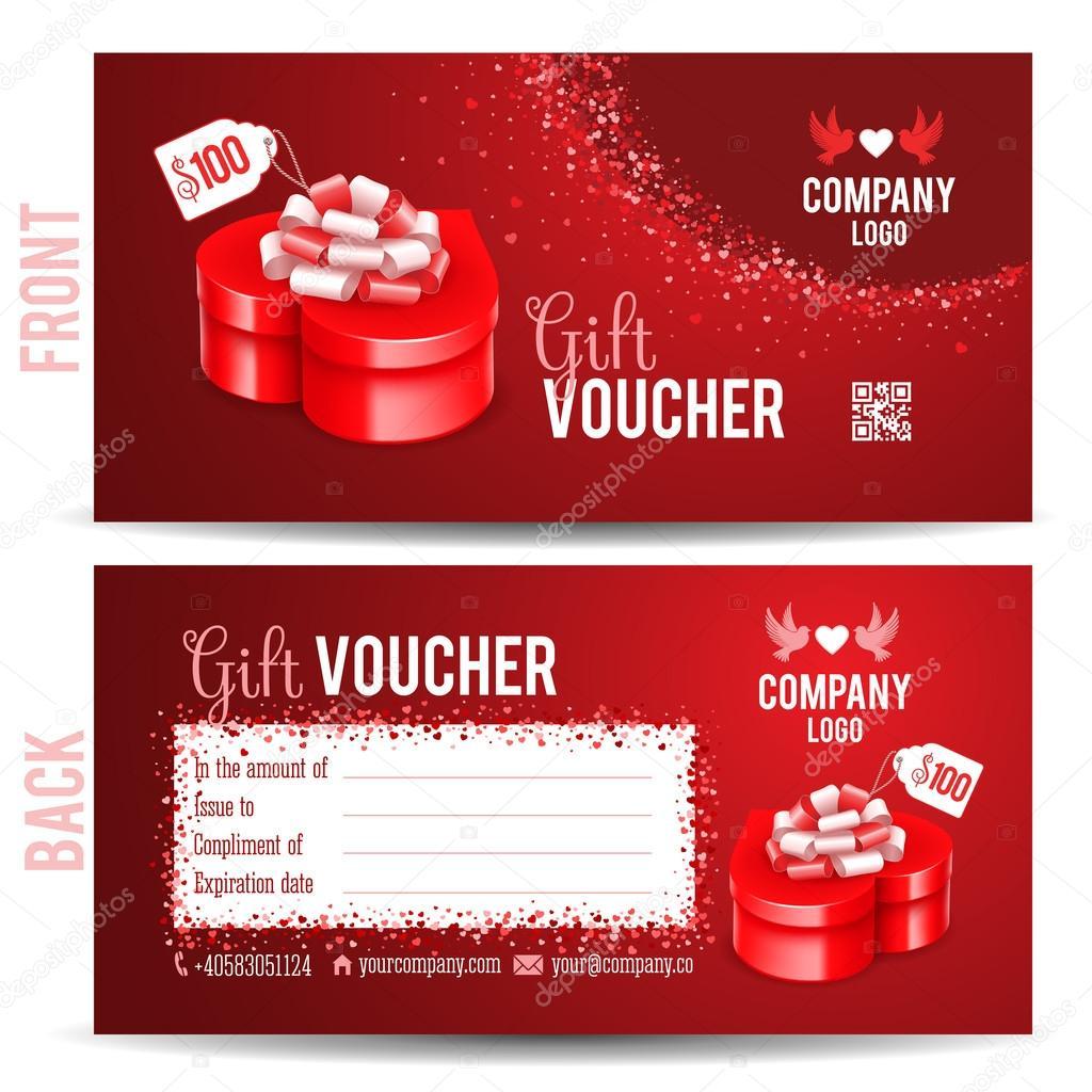 Christmas gift box card template