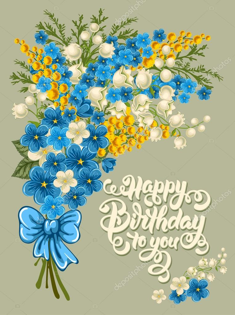 Happy birthday vintage card stock vector pazhyna 99728810 happy birthday vintage card stock vector bookmarktalkfo Image collections