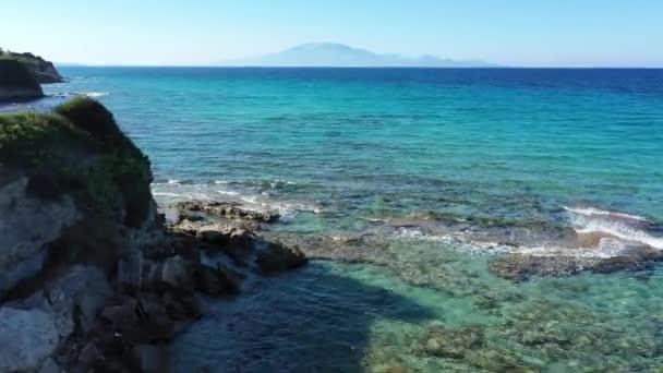 Letecký pohled na pláž Katragaki, Tragaki, Zakynthos, Řecko