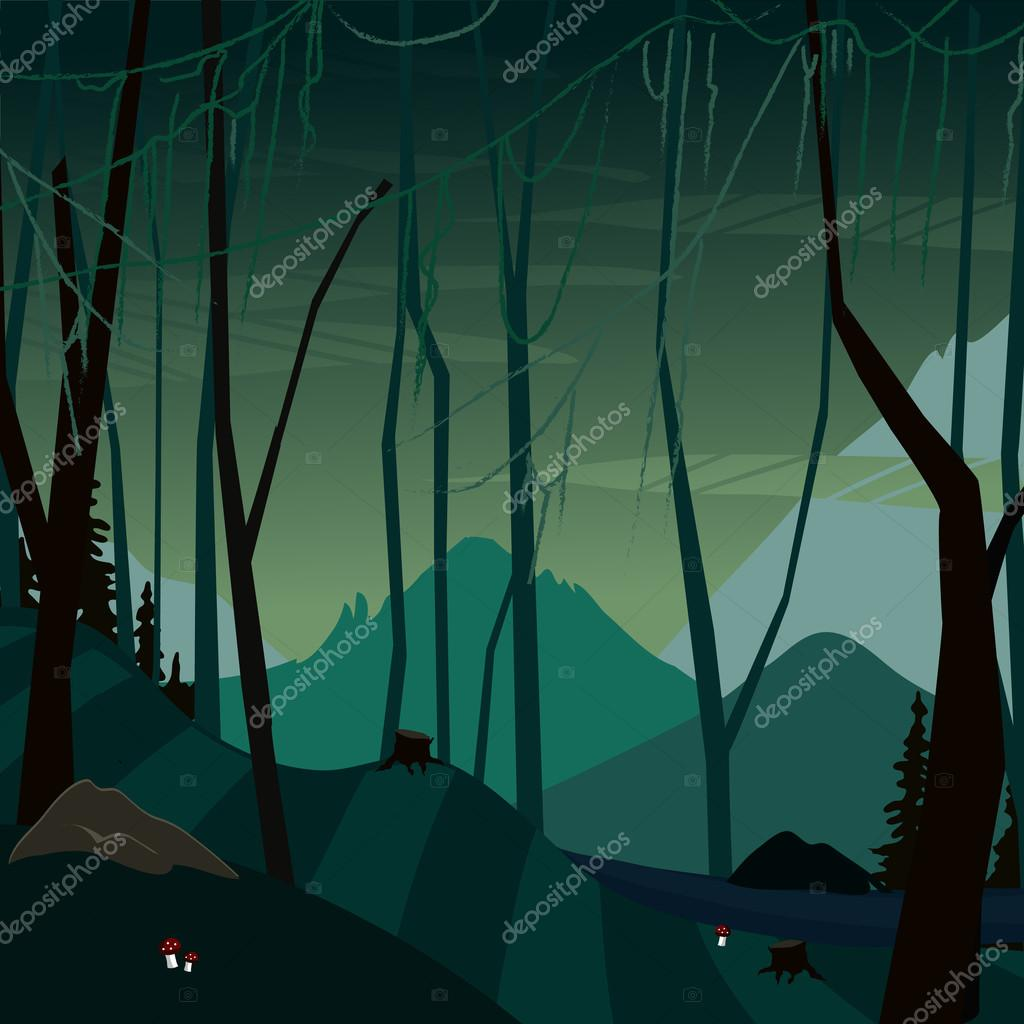 fabulous dark swamp background