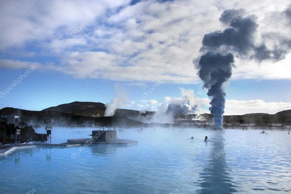 the blue lagoon geothermal hot springs iceland stock. Black Bedroom Furniture Sets. Home Design Ideas