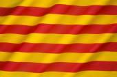 Katalónia - a Senyera zászlaja
