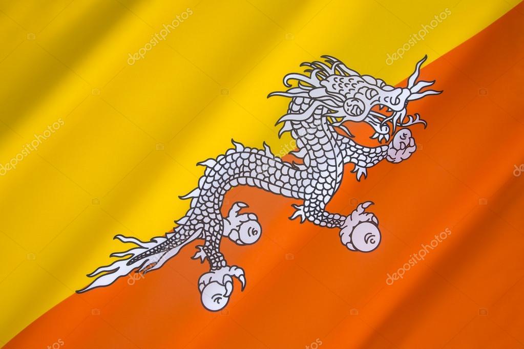 Vlag Van Het Koninkrijk Bhutan Stockfoto Steveallen 56982647
