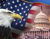 patriotische Symbole - Vereinigte Staaten von Amerika