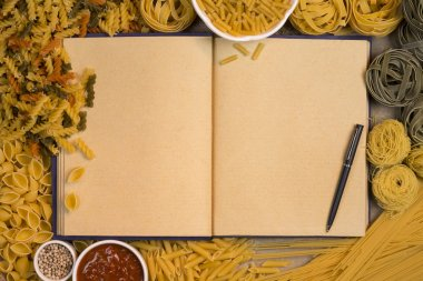 Pasta Recipe Book - Space for Text