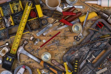 Untidy Workbench - Old Tools