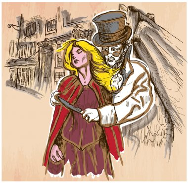 Jack the Ripper - An hand drawn vector