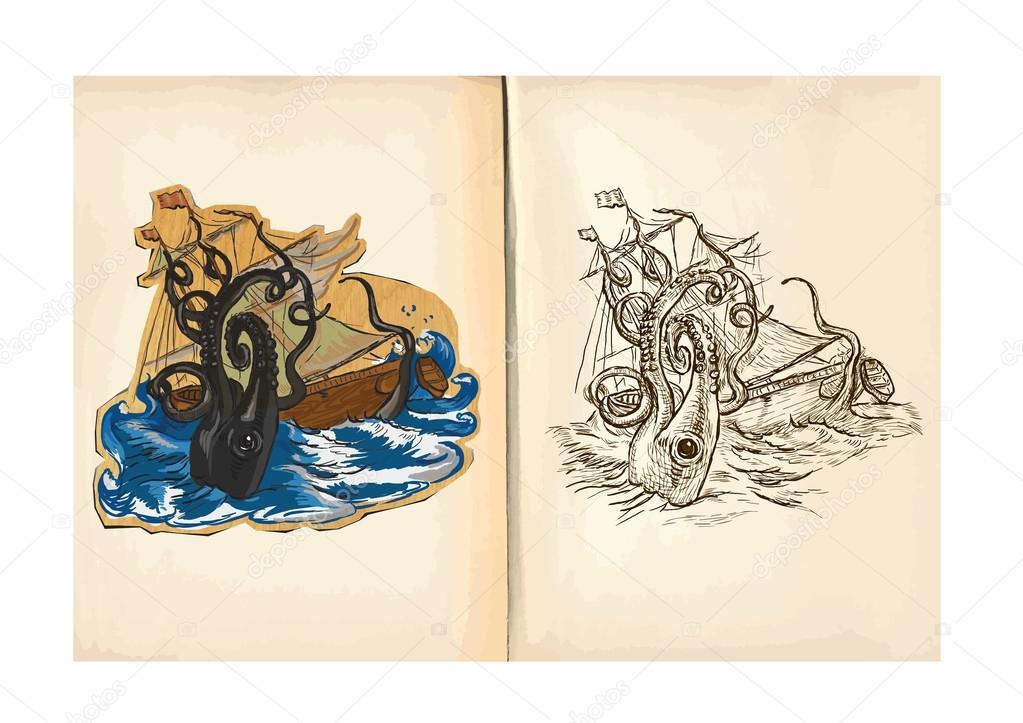 Mano gigante para colorear | Libro para colorear para niños - pulpo ...