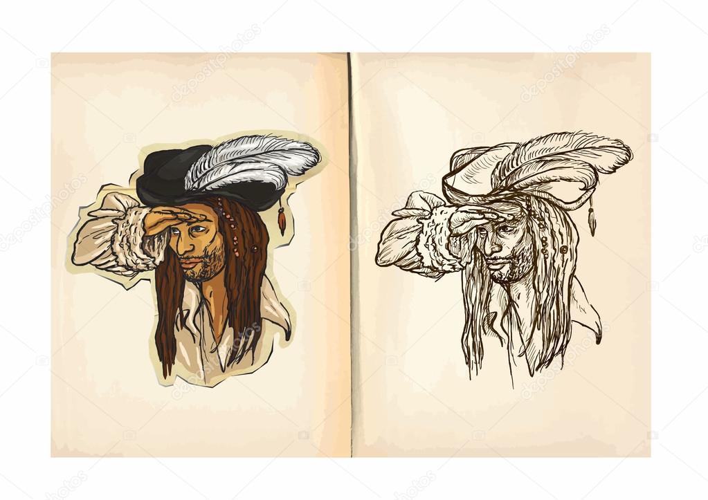 Libro para colorear para niños - marinero — Vector de stock © kuco ...