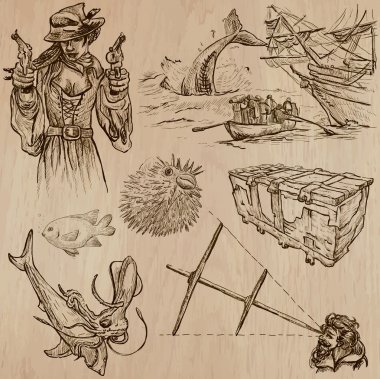 Pirates - an hand drawn vector pack no.12