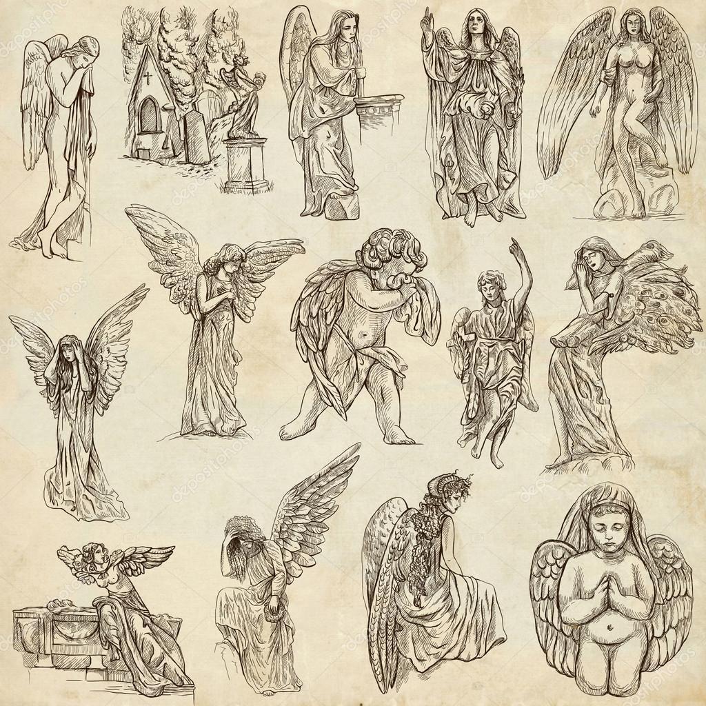 Imágenes Angeles Guerreros Cristianos ángeles Dibujado A Mano