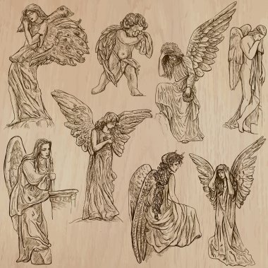 Angels - hand drawn vector pack