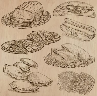 Food - hand drawn vector pack.