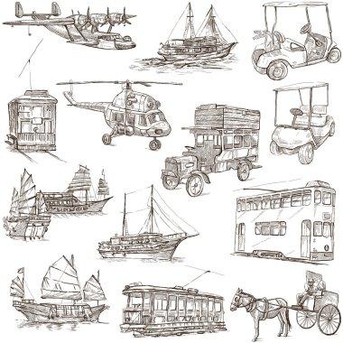 Transport pack - Freehand, Orginal sketches