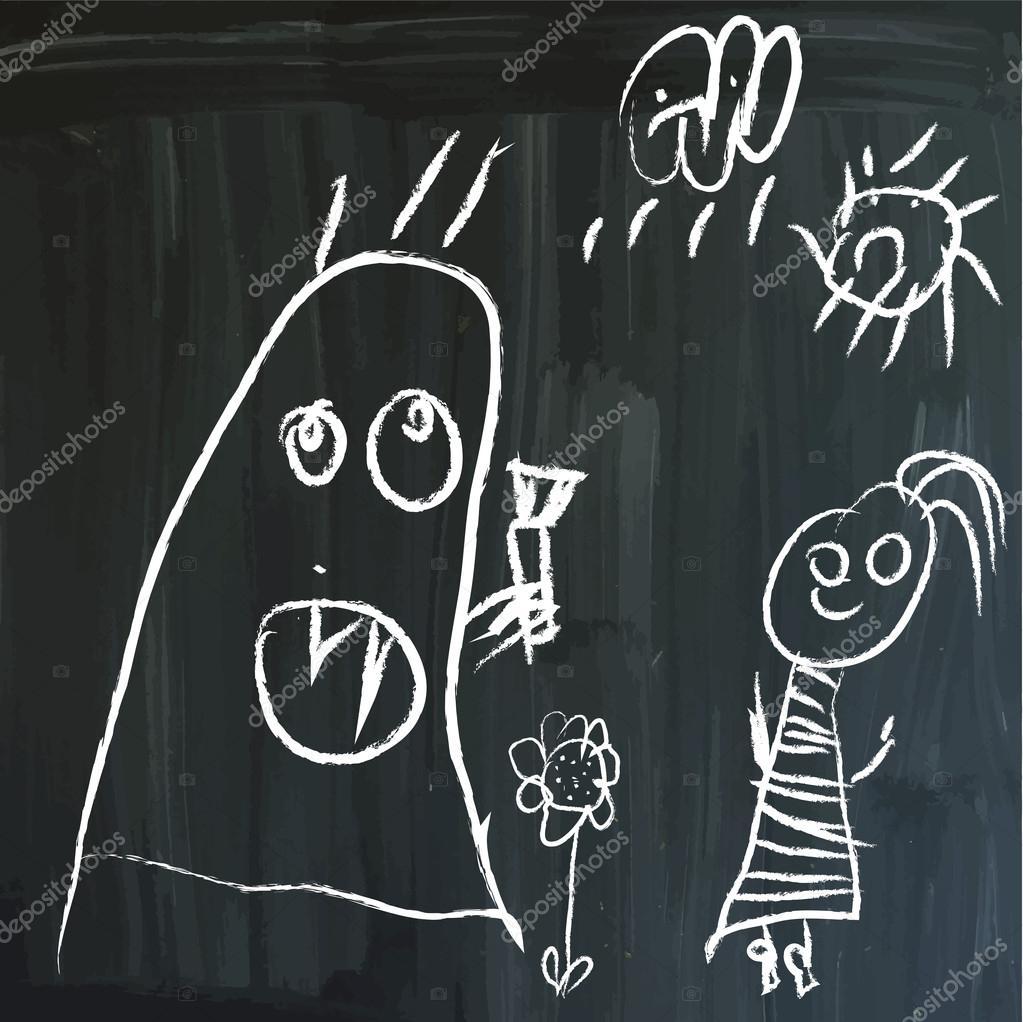 Message on a blackboard
