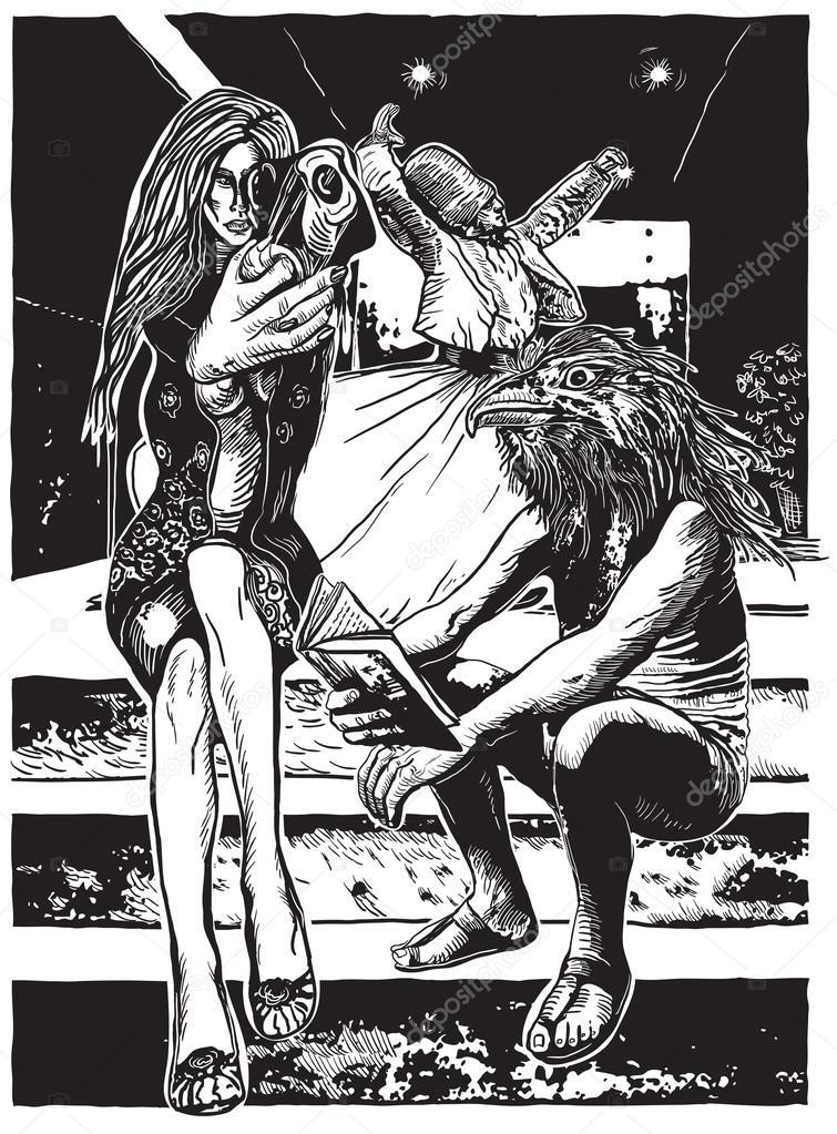 Mad World - An hand drawn vector illustration
