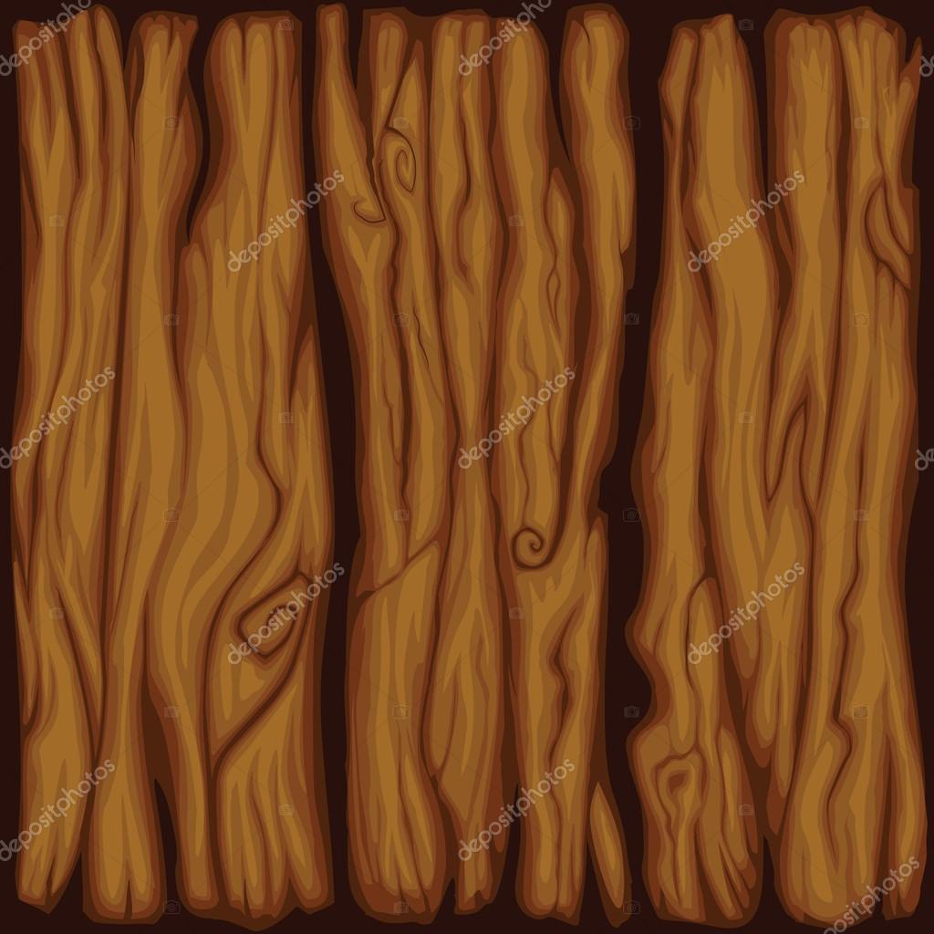 Texture De Planche De Bois Pour Le Dessin Animé Vector