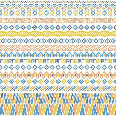 Vector african style pattern with tribal motifs