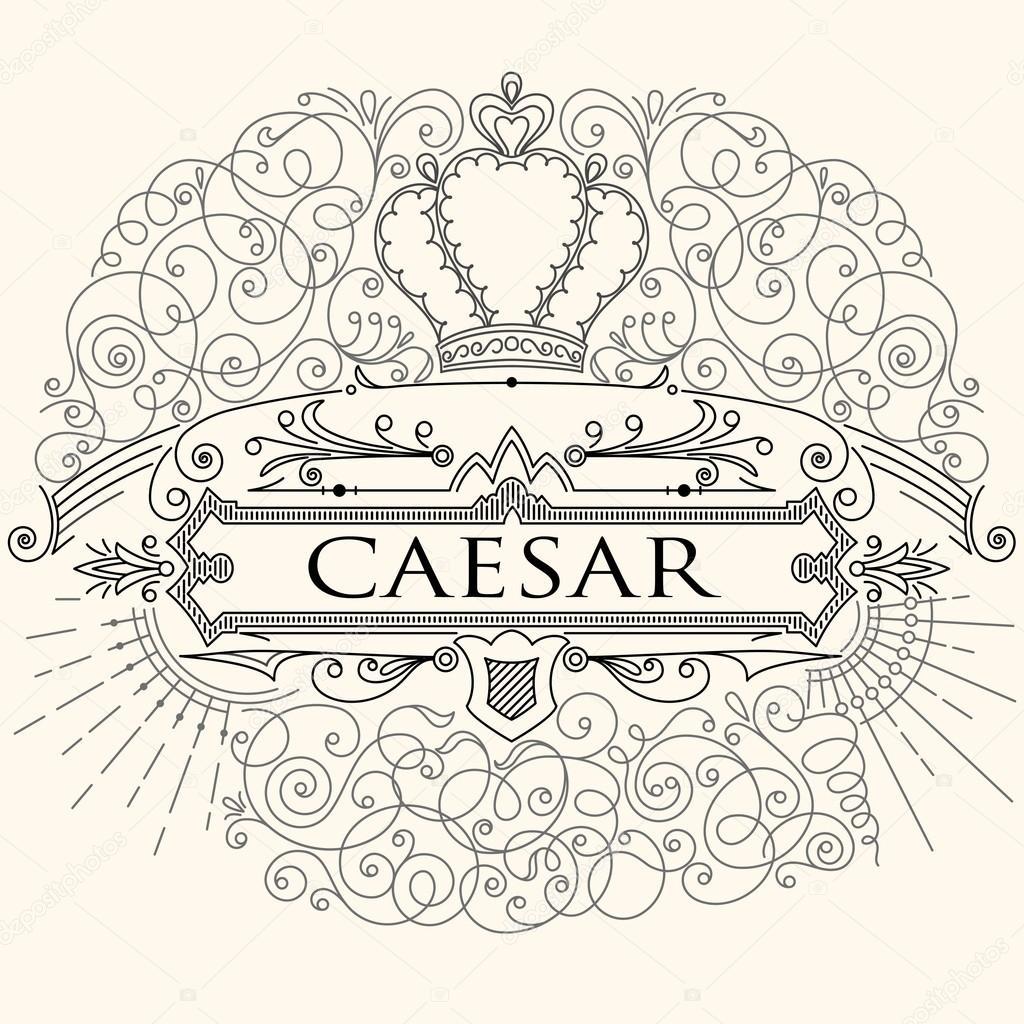 Luxuriöse Jahrgang kalligraphische Gestaltung der Rahmen mit ...