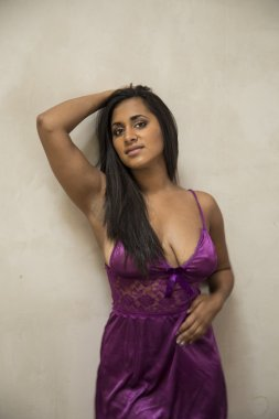 Busty Young Indian Woman in Lingerie