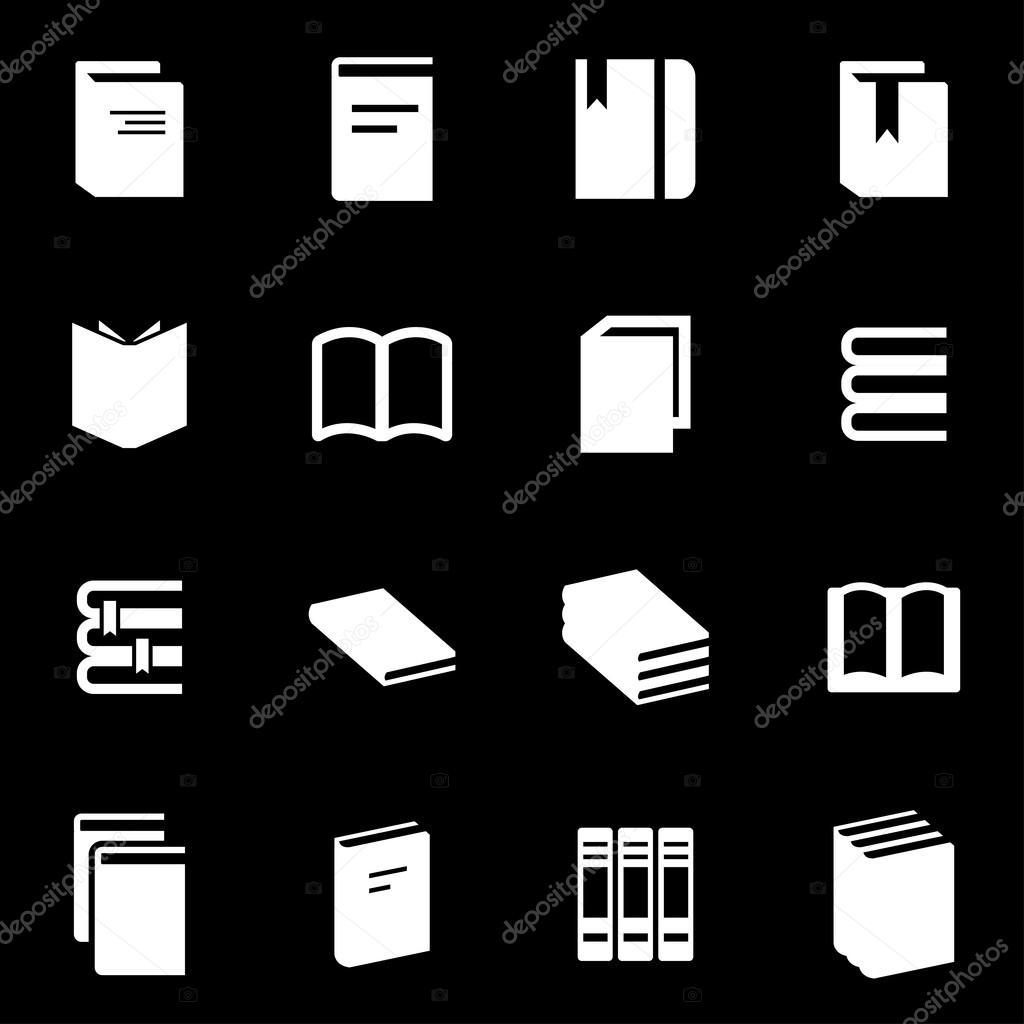 Livre Blanc Icon Set Vector Image Vectorielle Skarin1