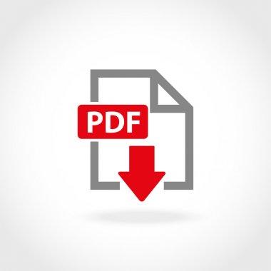 Vector PDF icon set