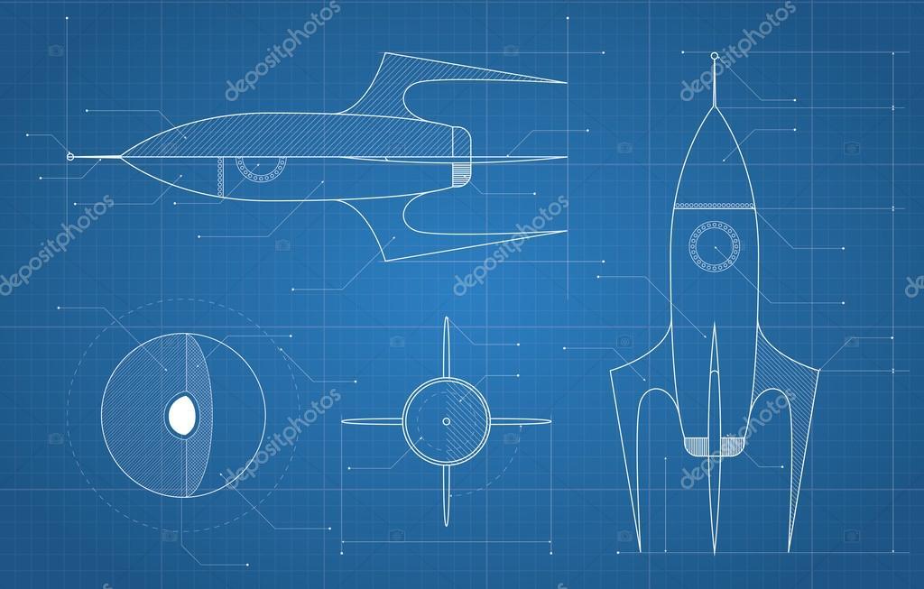 Blueprint con nave espacial archivo imgenes vectoriales blueprint con nave espacial archivo imgenes vectoriales malvernweather Image collections