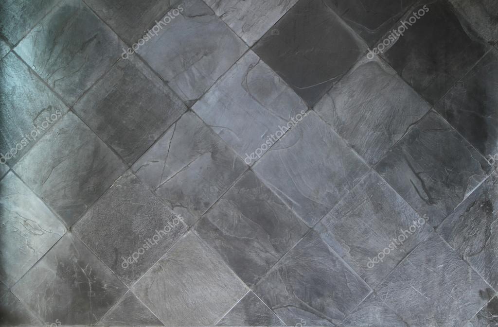 Piastrelle in pietra ardesia naturale nera u foto stock drpnncpp