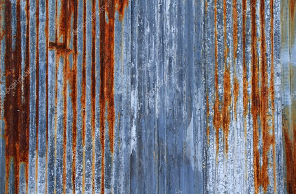Rusty Corrugated Iron Metal Texture Or Background Stock