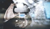 Fotografie Businessman working with a Cloud Computing diagram on the new co