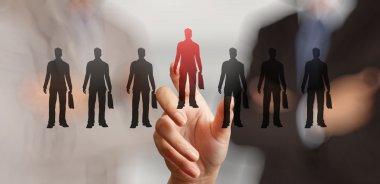 Businessman  choosing people icons