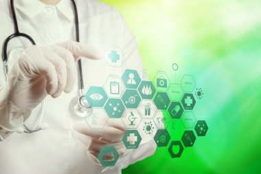 doctor working with nature background