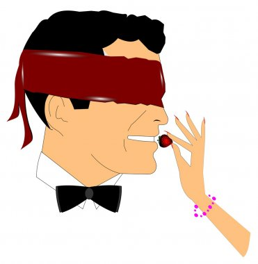 Man in blindfold